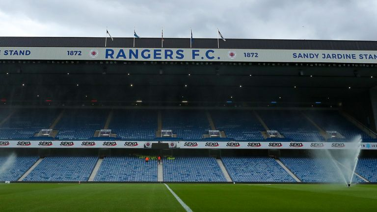 Ibrox was due to stage the Old Firm game on Sunday