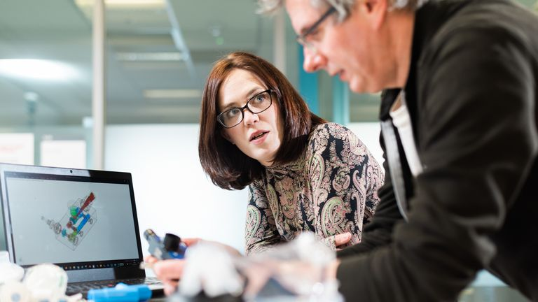Professor Rebecca Shipley and Professor Tim Baker of the UCL Mechanical Engineering department