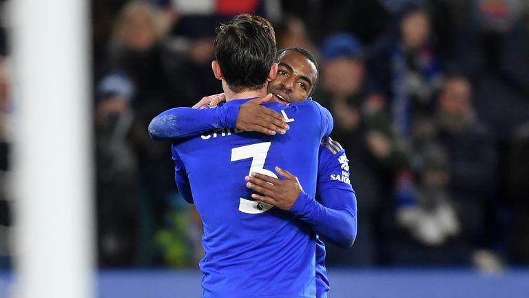 Ricardo Pereira celebrates scoring for Leicester against Birmingham