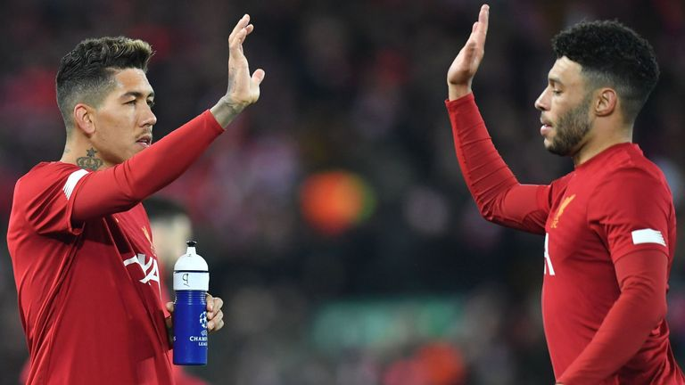 Roberto Firmino and Alex Oxlade-Chamberlain ahead of Liverpool vs Atletico Madrid