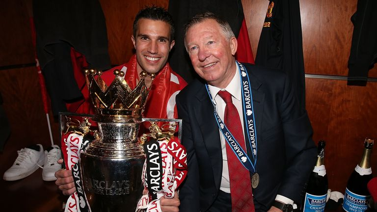 Robin van Persie got his hands on the Premier League trophy - but not the Champions League during his career