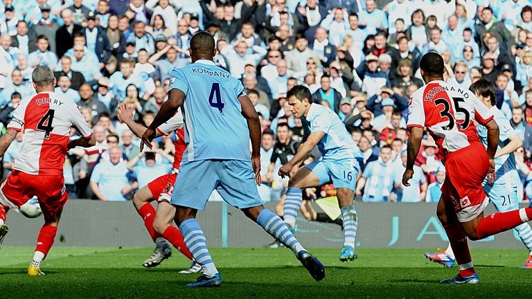 Sergio Aguero's dramatic winner against QPR handed Man City the title