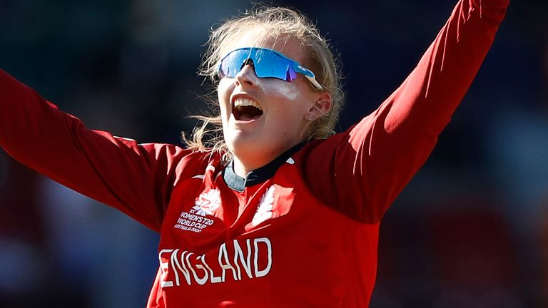 England spinner Sophie Ecclestone took eight wickets at the T20 World Cup