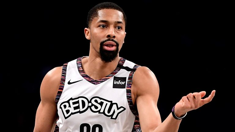 Spencer Dinwiddie in action for the Nets against the Bulls
