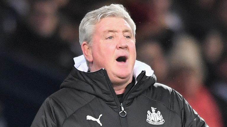 Steve Bruce, Manager of Newcastle United during the FA Cup match between West Bromwich Albion