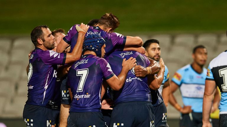 Storm celebrate their win