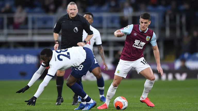 Ndombele struggled to assert himself during the 1-1 draw at Turf Moor