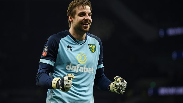 Tim Krul was Norwich's hero on the night