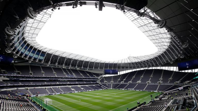 Tottenham moved into their new stadium in the closing months of last season
