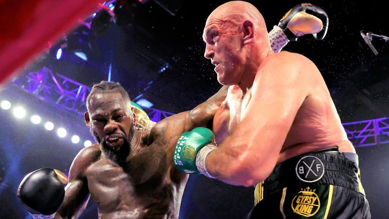 Deontay Wilder's WBC title reign was ended by Fury in Las Vegas