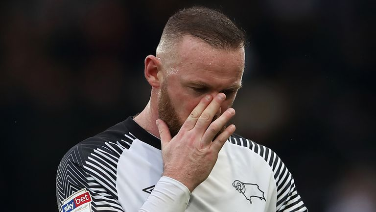 Wayne Rooney in action for Derby