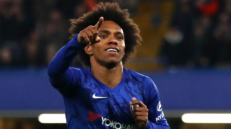 Willian's shot was fumbled by Adrian to give Chelsea the lead