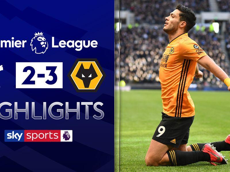Tottenham 2 3 Wolves Nuno Espirito Santo S Side Move To Within Three Points Of Chelsea Football News Sky Sports