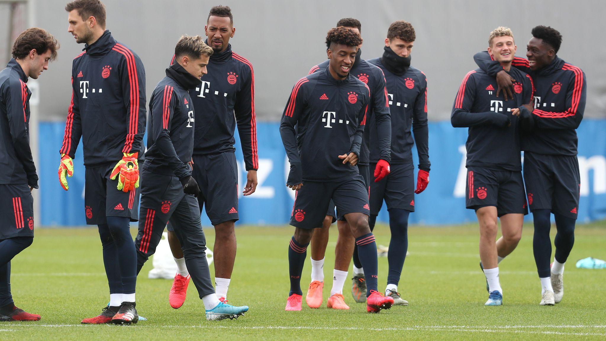 Bayern Munich Return To Training In Small Groups Football News Sky Sports