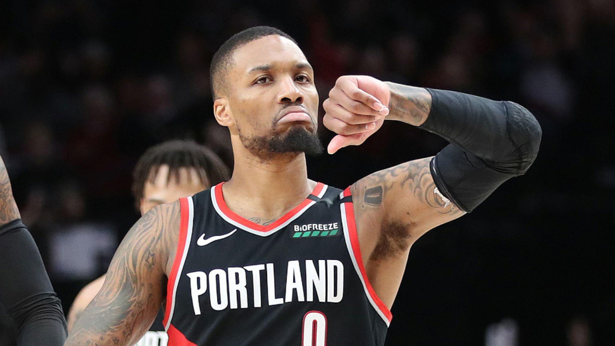 Damian Lillard says Portland's playoff prospects will determine whether he  plays this season   NBA News   Sky Sports