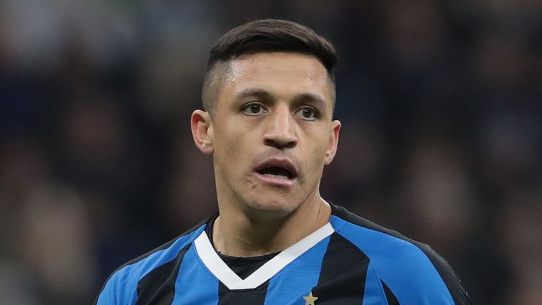 during the Coppa Italia Semi Final match between FC Internazionale and SSC Napoli at Stadio Giuseppe Meazza on February 12, 2020 in Milan, Italy.