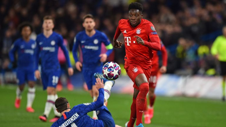 Alphonso Davies terrorised the Chelsea defence, and set up one of Bayern's goals, in their 3-0 win at Stamford Bridge