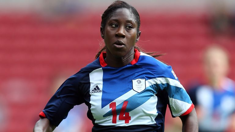 MIDDLESBROUGH, ENGLAND - JULY 20: Anita Asante of GB in action during the international friendly match between Team GB Women and Sweden Women at the Riverside Stadium on July 20, 2012 in Middlesbrough, England. (Photo by Julian Finney/Getty Images)