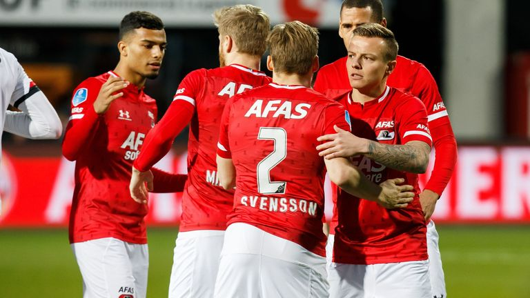 AZ Alkmaar are behind leaders Ajax on goal difference with nine games to play