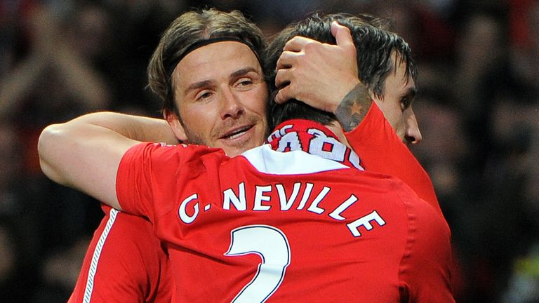 Gary Neville and David Beckham used to room together during their time at Manchester United