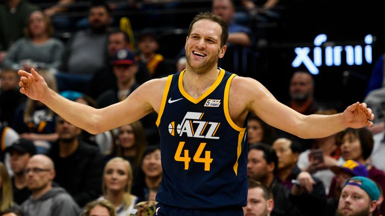 Bojan Bogdanovic of the Utah Jazz