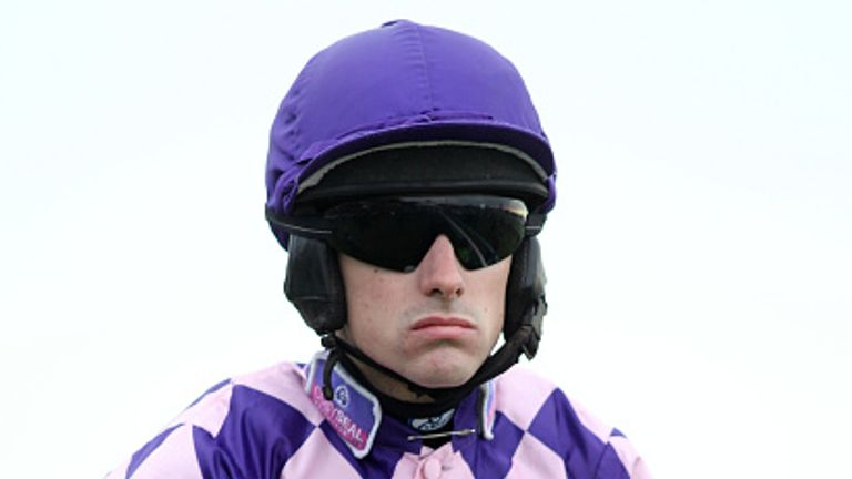 NEWCASTLE, UNITED KINGDOM - NOVEMBER 30: Jockey Brian Hughes during the Fighting Fifth Race Meeting at Gosforth Park Race Course on November 30, 2013 in Newcastle upon Tyne, England (Photo by Ian Horrocks/Getty Images)