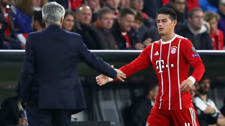 Rodriguez was reunited with Ancelotti on a two-year loan at Bayern