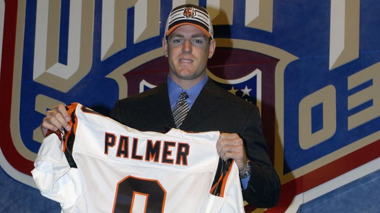 Carson Palmer was selected No 1 by the Bengals in 2003