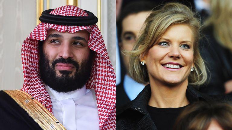 Saudi Arabia's Crown Prince, Mohammed bin Salman and Amanda Staveley