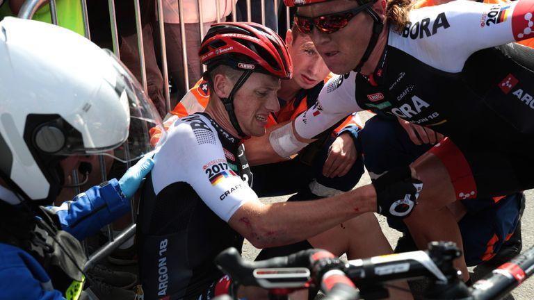 Bennett a subi un crash lors de la première étape du Tour de France en 2016