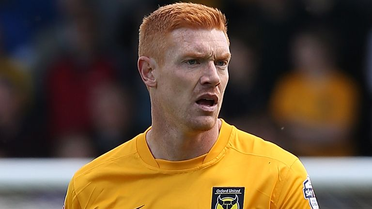 during the Sky Bet League Two match between Northampton Town and Oxford United at Sixfields Stadium on May 3, 2014 in Northampton, England.