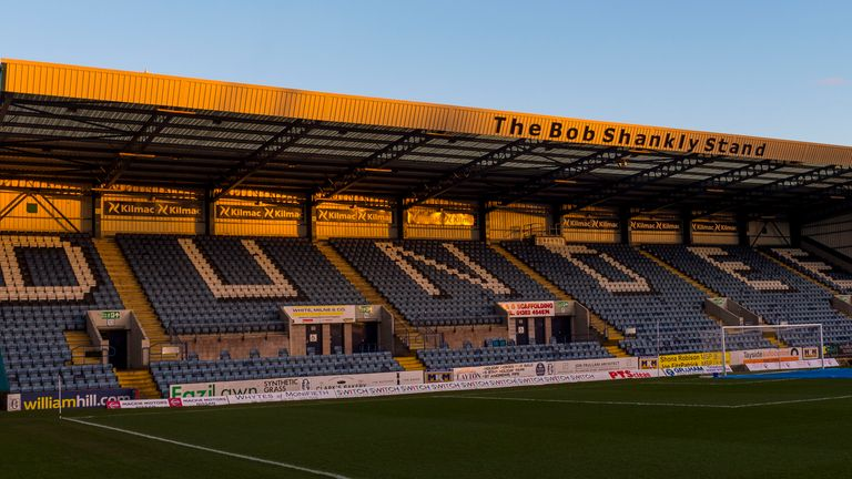 A general view of Dens Park ahead of the Ladbrokes Championship match between Dundee and Alloa Athletic at Dens Park on March 03, 2020, in Dundee, Scotland