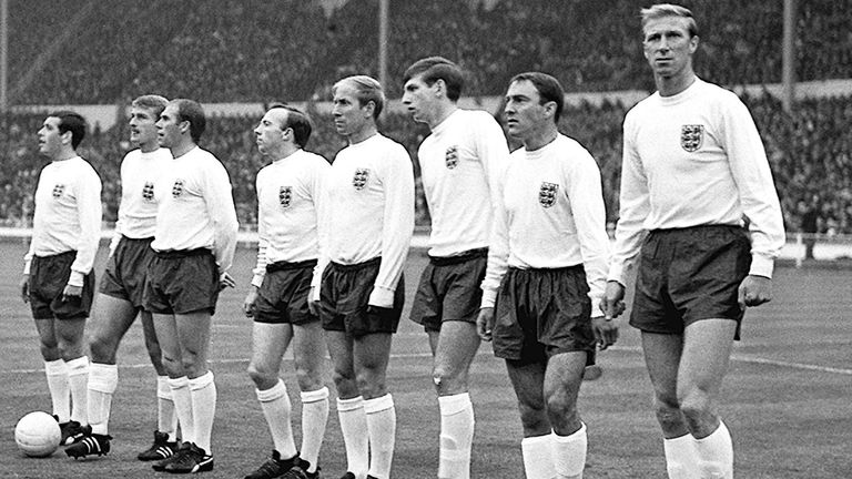 Jimmy Greaves (second from right) was part of England's World Cup-winning side in 1966 but had to sit out the final due to injury