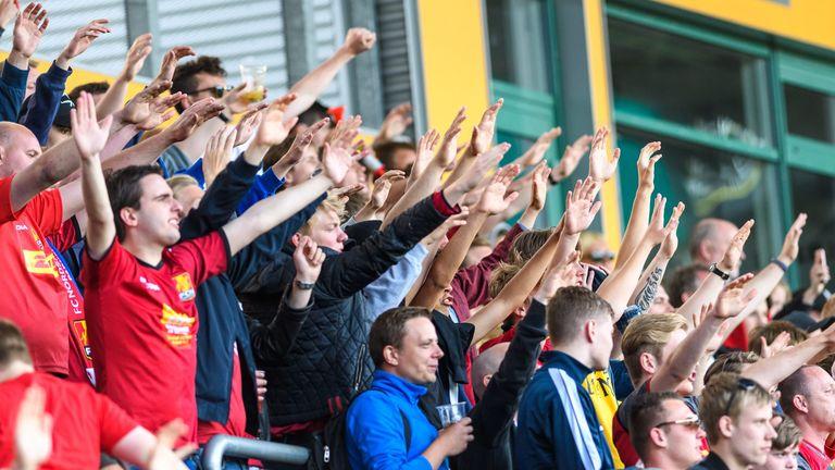 FC Nordsjaelland fans. Pic: boesenfoto.dk