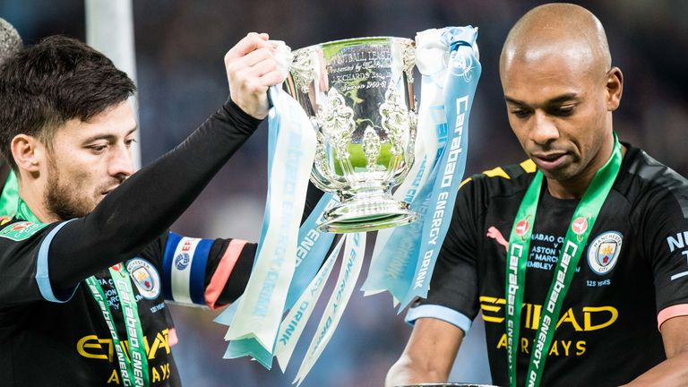 This year's Carabao Cup win was Fernandinho's ninth trophy win at Manchester City