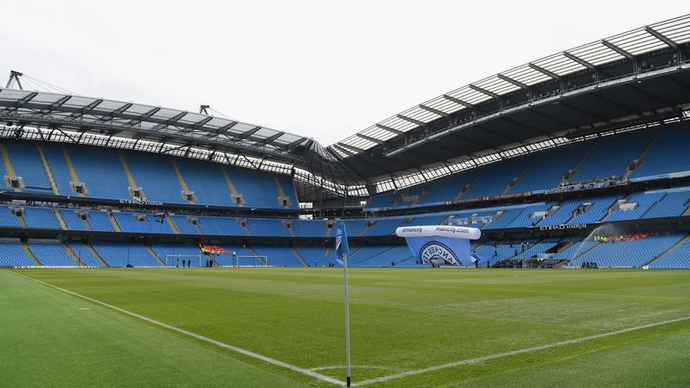 The pitch at the Etihad Stadium will be relaid early in case Manchester City have to play games in the summer