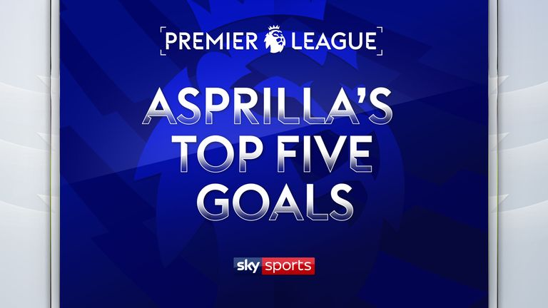Take a look back at Faustino Asprilla's top five Premier League goals from his days with Newcastle.