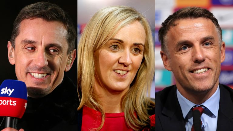 Gary, Tracey and Phil Neville