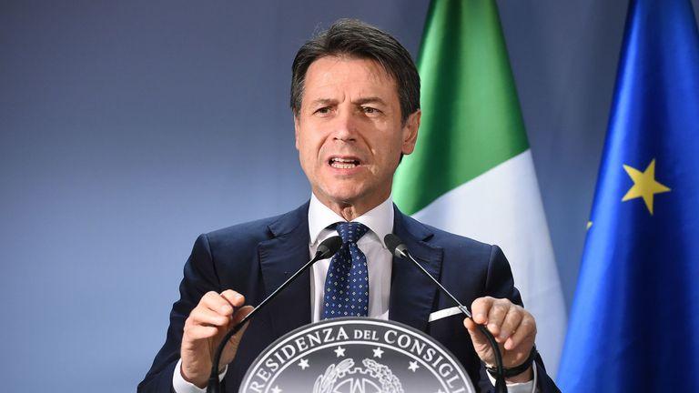 Il primo ministro italiano Giuseppe Conte
