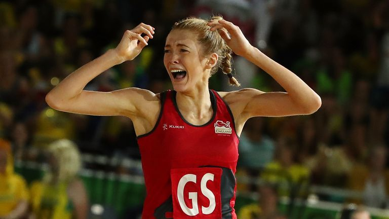 Pure elation shown by Helen Housby on court