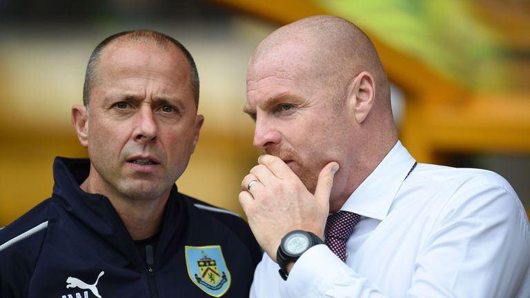 Ian Woan and Sean Dyche discuss plans for Burnley