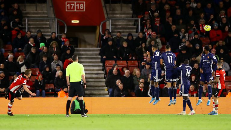 Ward-Prowse's exquisite free-kick guided Southampton to victory over Watford in December