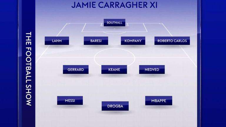 Jamie Carragher's World XI with a twist