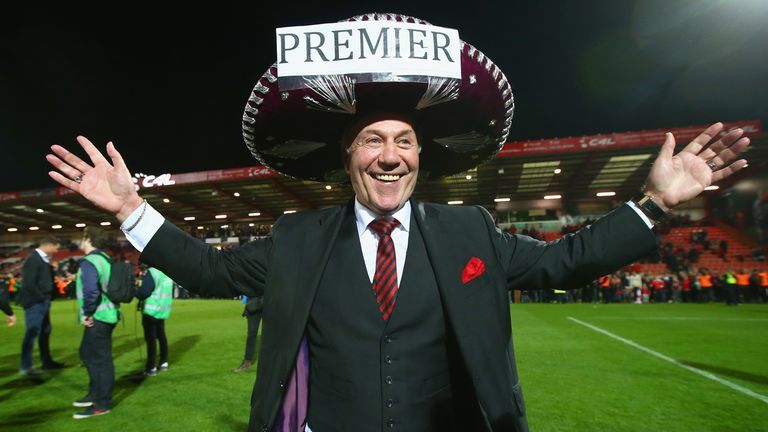 Chairman Jeff Mostyn revelled in the carnival atmosphere on an unforgettable night