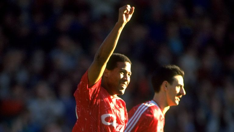 John Barnes and Ian Rush clinched Liverpool's 18th - and last- league title back in 1990
