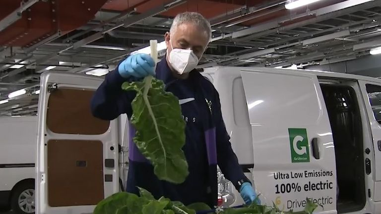 Mourinho has been delivering vegetables for those in-need in Tottenham's local community