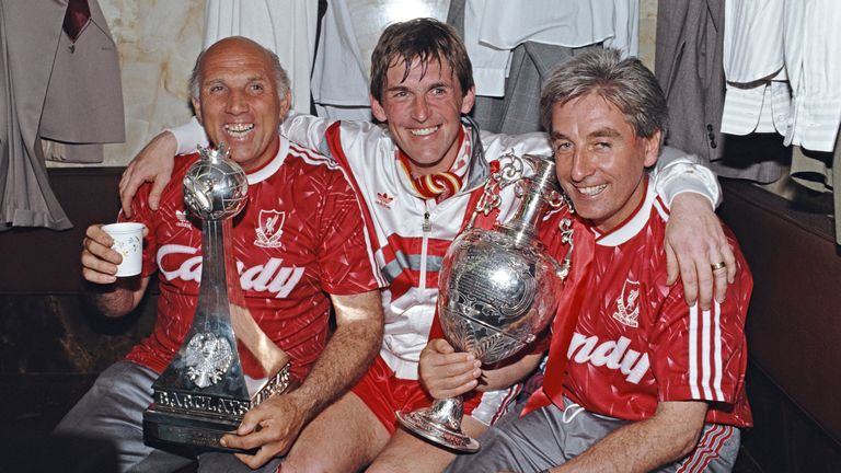Sir Kenny Dalglish (C), with the help of assistants Ronnie Moran (R) and Roy Evans (L), were the masterminds behind Liverpool's last league title win