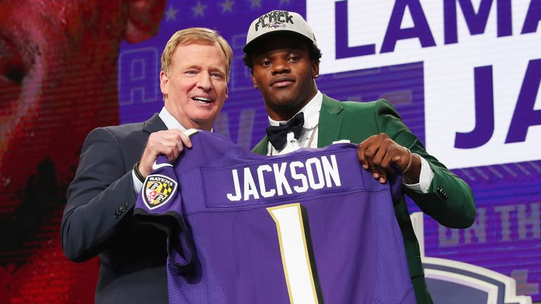 The 2019 MVP Lamar Jackson was taken No. 32 overall by the Baltimore Ravens at the 2018 NFL Draft
