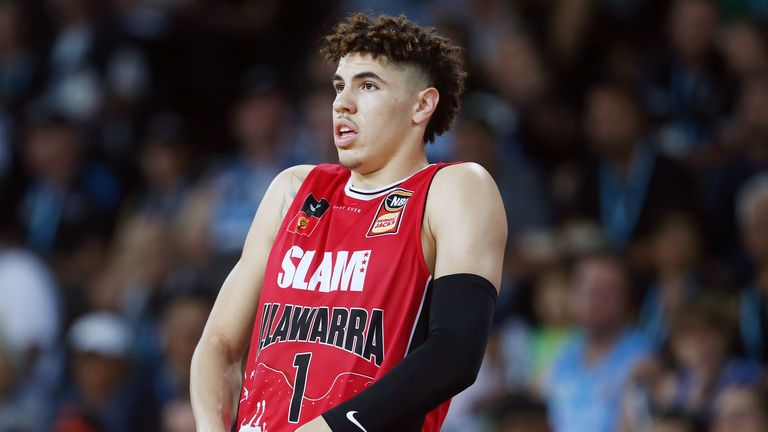 LaMelo Ball in action for the Illawarra Hawks