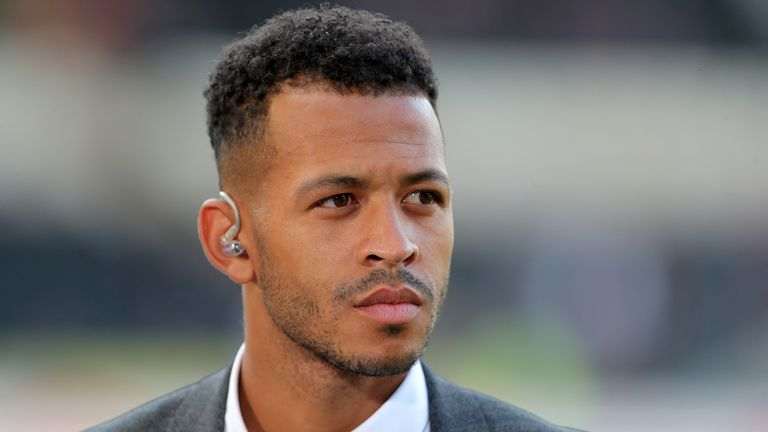 HULL, ENGLAND- AUGUST 06: XXX during the Sky Bet Championship  match between Hull City and Aston Villa at the KCOM Stadium on August 6, 2018 in Hull, England. (Photo by Richard Sellers/Getty ImagesHULL, ENGLAND- AUGUST 06: Sky sports  football pundit Liam Rosenior before the Sky Bet Championship  match between Hull City and Aston Villa at the KCOM Stadium on August 6, 2018 in Hull, England. (Photo by Richard Sellers/Getty Images)*** Liam Rosenior ***  .